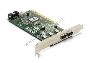 Compaq IEEE 1394 (FireWire) Low Profile (LP) Interface Card, 2xExt, 1xInt, p/n: 441448-001, 354614-006, OEM (контроллер)
