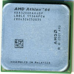 CPU AMD Athlon 64 3200+ 2000MHz, Socket 939, ADA3200DAA4BP, 512KB Cache L2, OEM (процессор)