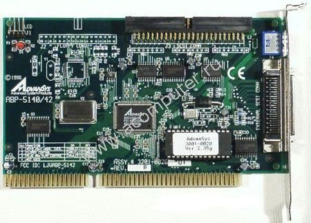 Controller Advance System ABP-5140/42, SCSI ISA card, 1xfloppy int, 1x50-pin (широкий) int, 1x50-pin ext, OEM (контроллер)