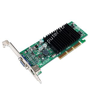 VGA card nVIDIA NV34 FX5200, 128MB, Dual Port, AGP, Low Profile (LP), model: NV-P118, OEM (видеоадаптер)