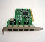 Adaptec AUA-5100B 1xPCI to 6xUSB Controller Card (adapter), OEM (адаптер)