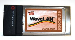 Lucent Technologies Bronze 802.11b Wireless Wi-Fi PCMCIA Card, model: PC24E-T-FC, p/n: 011498/A, encryption: NO WEP, OEM (беспроводной адаптер)