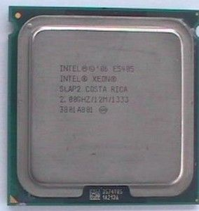 CPU Intel Xeon Quad Core E5405 2.00GHz (2000MHz), 1333MHz FSB, 12MB Cache, Socket LGA771, Harpertown, SLAP2, OEM (процессор)