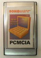 Sohoware 10BaseT PCMCIA Network Adapter 10Mbps Ethernet PC Card, w/cable, p/n: ND5120-E, OEM (сетевой адаптер)