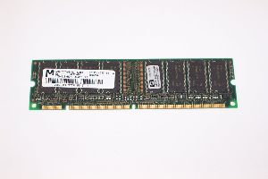 Micron 128MB SDRAM 168-pin Unbuffered DIMM, PC133 (133MHz), 16Meg x 64, p/n: MT8LSDT1664AG-133B1, OEM (модуль памяти)