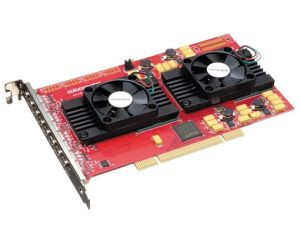 Colorgraphic Xentera GT 8 PCI Video Card Eight Display (8 Head), 256MB (8x32MB) DDR SDRAM/w 8 cable, PCI, p/n: 612518, OEM (видеоадаптер)