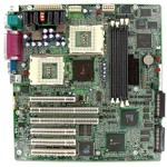 Intel Server board STL2 G7ESZ (Dual Socket370, ServersetIII, dual U3WSCSI, LAN, video), 4xPCI, 2xPCI-X, OEM (системная плата, оптимизирована под корпус 1U)