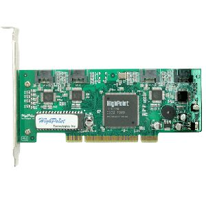 HPT USA/Highpoint Tech RRAID1640 (RocketRaid-1640) PC Host Adapter (controller), 4 channel SATA/IDE, RAID levels: 0, 1, 5, 10 (1/0) & JBOD; 32-bit 33MHz PCI, OEM (контроллер)