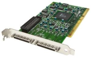 ASC-39320D Adaptec 2-channel Ultra320 SCSI (supports up to 30 devices); Conn: 2x68 VHDCI ext, 68 int, 64-bit, 133 MHz PCI-X OEM
