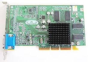 VGA card ATI Radeon 7000, TV out, 32MB, AGP, DVI & VGA, p/n: 109-78500, OEM (видеоадаптер)