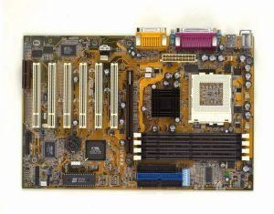 Motherboard ASUS CUV4X-E, Socket370 FC-PGA, SDRAM (up to 1GB) PC-100/133, AGP, 5xPCI, AS 5.1, OEM (системная плата)