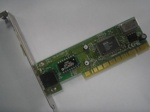 Network Ethernet card Gento 10/100Mbps, PCI, low profile, p/n: 18-1C-P120, OEM (сетевой адаптер)