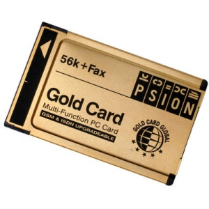 PSION DACOM PCMCIA 56K + FAX Modem GOLD Card, Multi-function PC Card, GSM & ISDN Ready, no cord  (факс-модем)