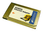 National Semiconducter InfoMover Ethernet PCMCIA Adapter (PC Card), p/n: 991010891-001A, no cord  (сетевой адаптер)