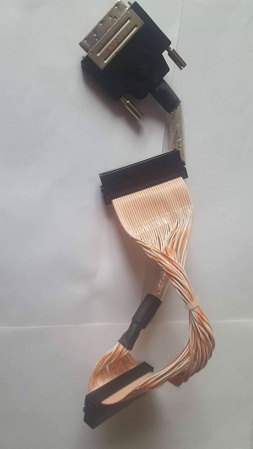 Internal SCSI Ultra320 cable 1xVHDCI/2xHD68M, 68-pin, 2 unit, 0.40m, OEM (шлейф внутренний)
