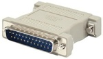 RS232 Null Modem M/M Adapter DB25M/DB25M  (переходник)